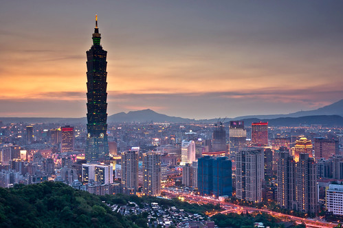 台北101 - After sunset of Taipei 101