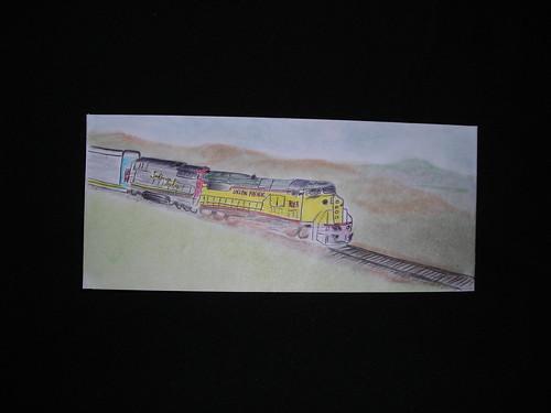 Train. Jail art.