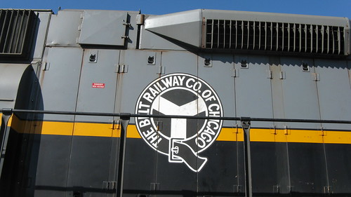 Belt Railway of Chicago corporate logo on EMD radio controlled road switcher # 583.  Chicago Illinois USA. Saturday, October 15th, 2011. by Eddie from Chicago