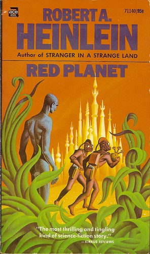Robert A. Heinlein - Red Planet - cover artist  Steele Savage