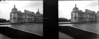 Château de Chantilly et fossés, mai 1902