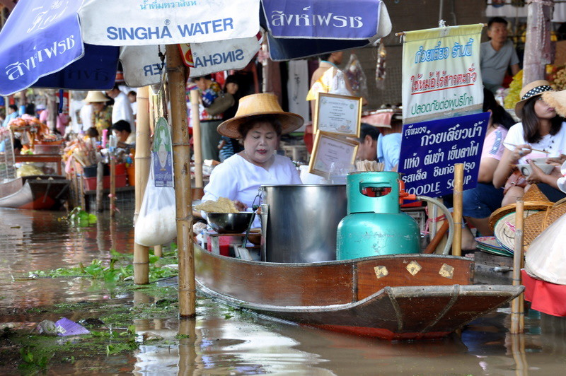 The Noodle Lady at the Floating Market