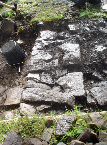 Archaeology in Practice: Wall after Clearing Back, Muggleswick Grange by jst @ Tanfield
