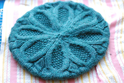 Brambles beret, after blocking