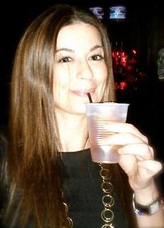 Leyla drinking