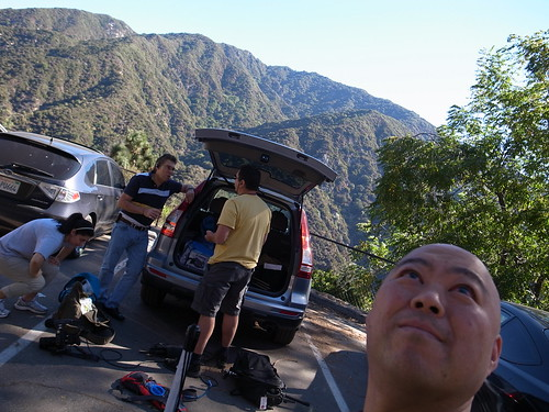 Unloading a car before Hike at Big Santa Anita Canyon