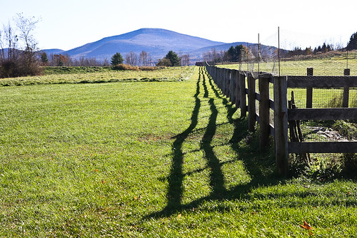 shadow mountains fence view catskills thefarm