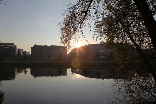 Spiegelung in der Abendsonne, Spree / IMG_0129
