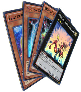 YuGiOh Photon Shockwave - Super Rares Giga-Brilliant, Wind-Up Hunter, Photon Saber Tiger & Friller Rabca