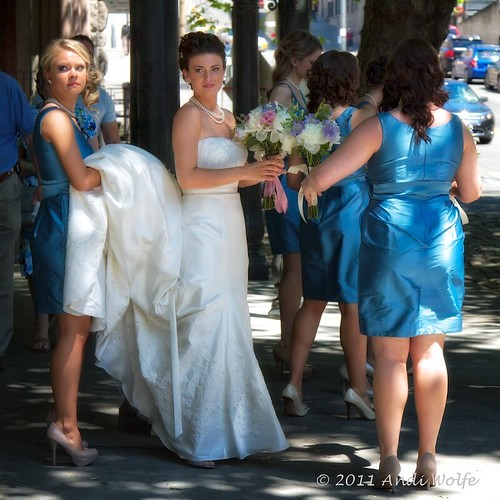 Bride at Pioneer Square by andiwolfe