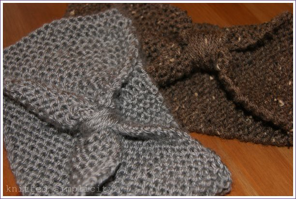 hand knit winter headbands
