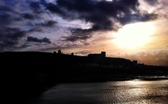 Dracula's Abbey on the hill, Whitby - beautiful Yorkshire morning. #Iphone
