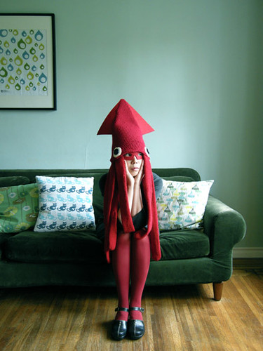 Squid Hat Costume