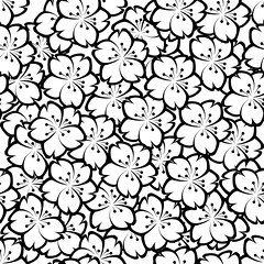 pattern, line art, coloring book, monochrome, black-and-white,