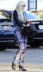 Lindsay Lohan Floral Pants Celebrity Style Women's Fashion