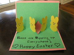 Pop Up Peeps Card