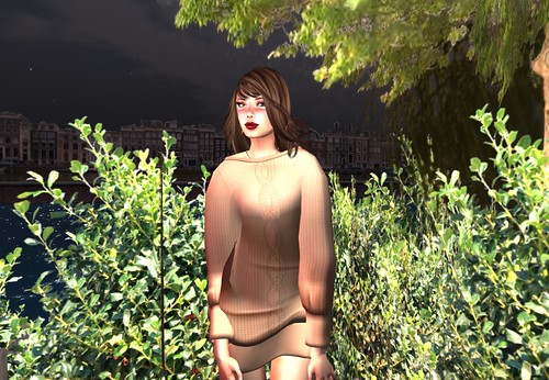 Ero Rabbi---Doman Sleeve Knitting Dress - Cork (free) by Cherokeeh Asteria