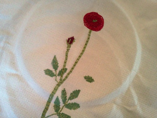 pressed flowers embroidery pattern