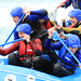 Jeremy Hunt  rafting on the Olympic Slalom course at Lee Valley White Water Centre