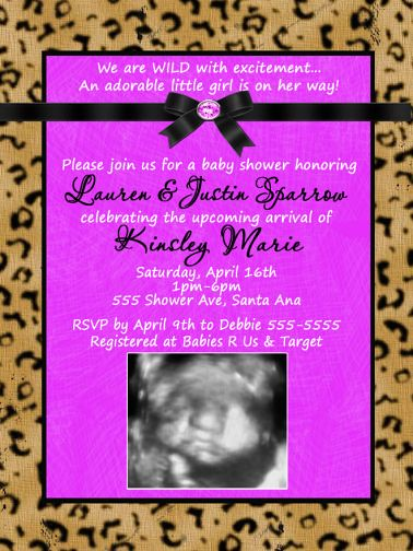 Cheetah Print Baby Shower Theme http://www.flickr.com/photos/poshnchicprints/5911064588/