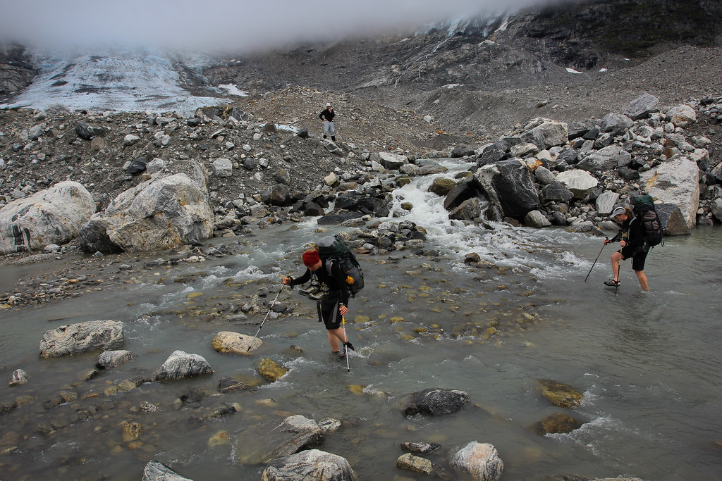 Crossing another glacial outlet. Tasilap Kua. East-Greenland.