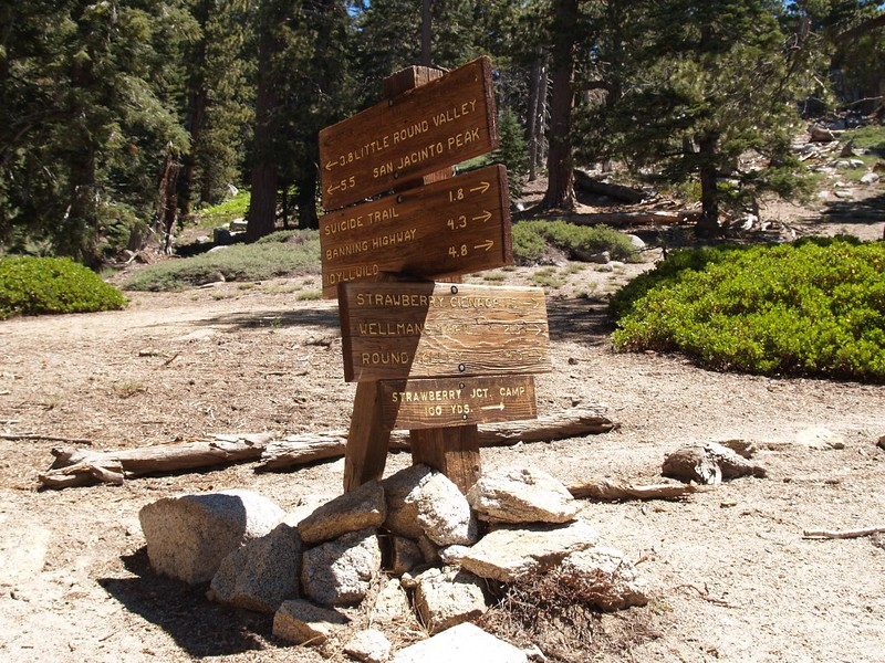 Pacific Crest Trail - Strawberry Junction Trail Sign