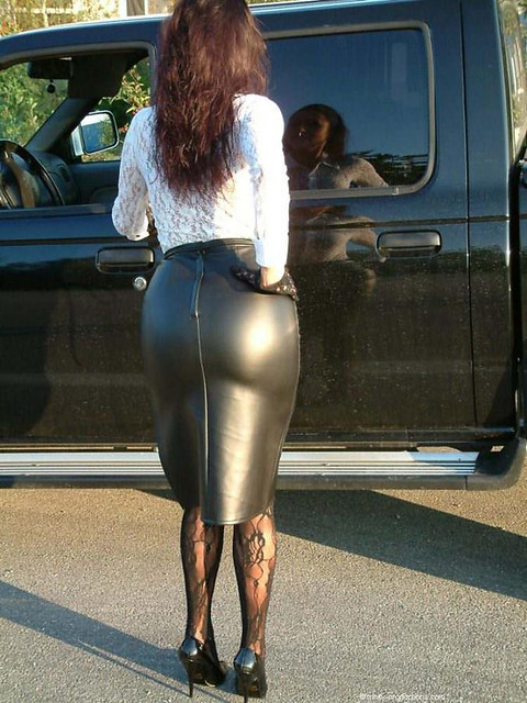 Candid Tight Ass In The Wonderful Leather