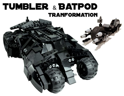instructions custom lego batman tumbler w batpod 7888 76023 76001 5004590 10937 ebay. Black Bedroom Furniture Sets. Home Design Ideas
