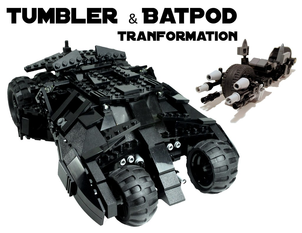 lego batman custom tumbler w batpod transform 7888 ebay. Black Bedroom Furniture Sets. Home Design Ideas