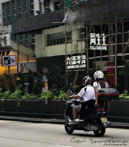 scooterist in hk