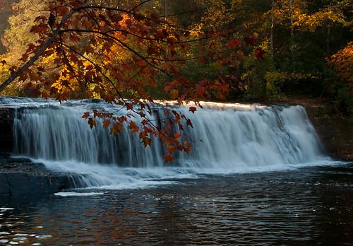 fall sunrise waterfall northcarolina hookerfallsdupontstateforest