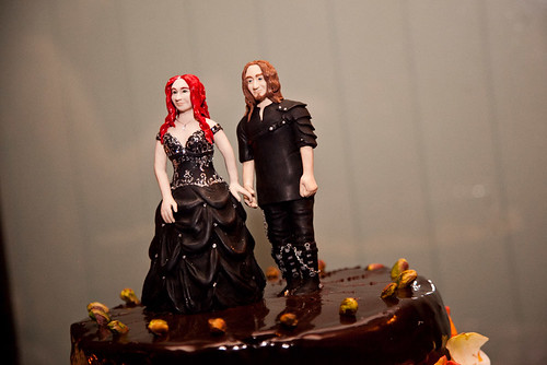 I sculpted our cake toppers which we revealed only just before cutting the