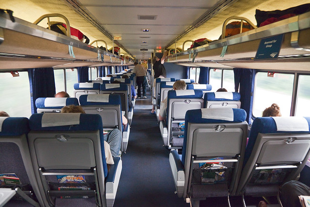 coach seating on amtrak 39 s empire builder flickr photo sharing. Black Bedroom Furniture Sets. Home Design Ideas