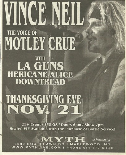 11-21-07 Vince Neil-LA Guns @ Maplewood, MN
