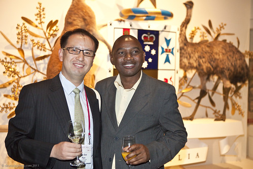 Jae Soo Ryu, South Korea and Elvas Mari, Zimbabwe at the Summit Dinner