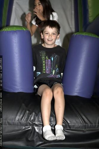 nick on the inflatable slide    MG 7350