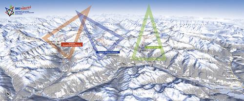 Hohe Tauern - mapa sjezdovek