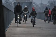 Radverkehr auf der 'kleinen Albertbrücke'