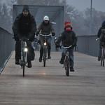 Radverkehr auf der Albertbrücke