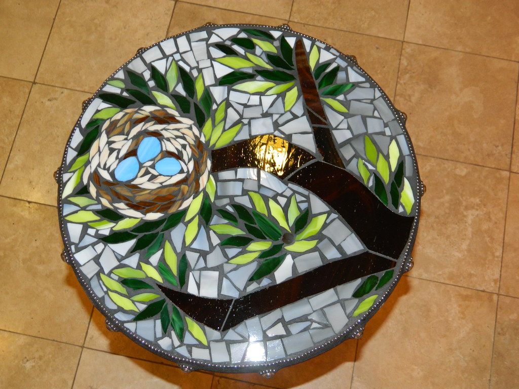 Table top grouted