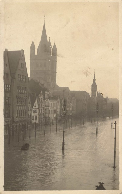 Cologne in flood (undated)