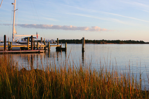 ocean water grass port marina boats bay boat nc dock ships north carolina beaufort