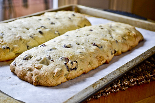 Pistachio, Cranberry & White Chocolate Biscotti | Full Fork Ahead