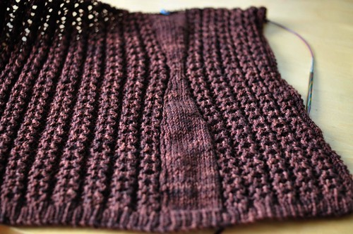 lace sweater progress