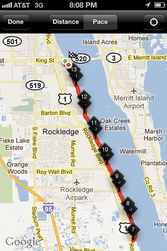 Space Coast Half Marathon Course