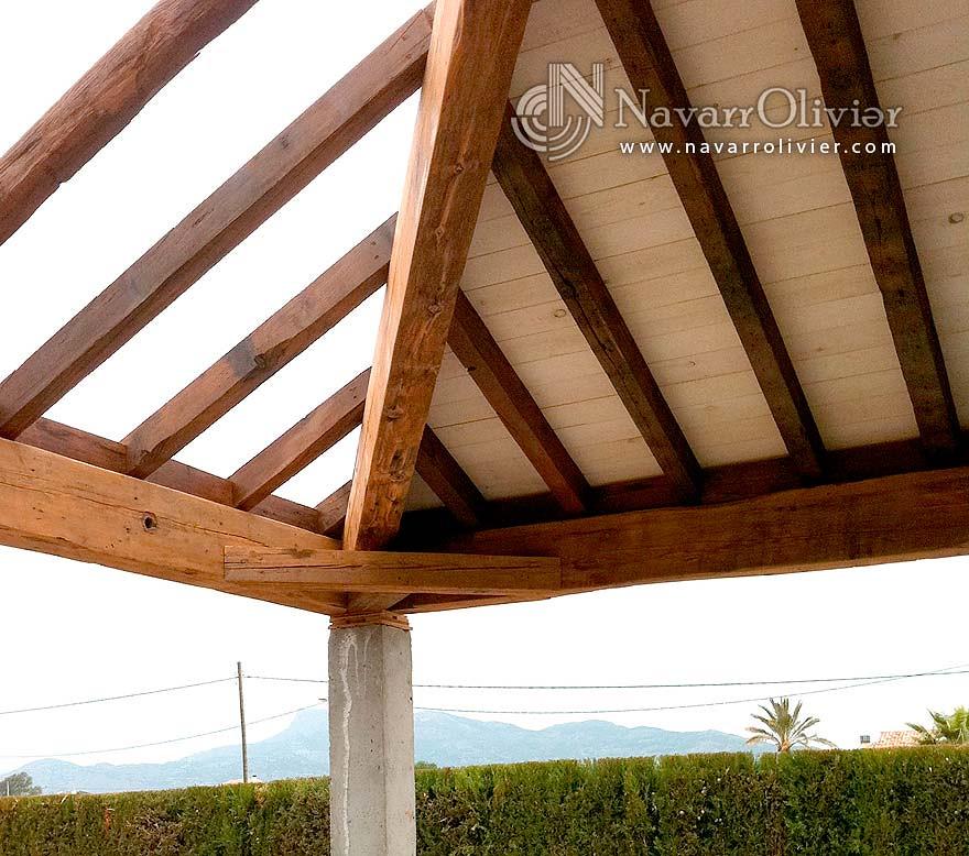 Navarrolivier estructuras de madera pergolas y 39 s most - Cubiertas para pergolas de madera ...