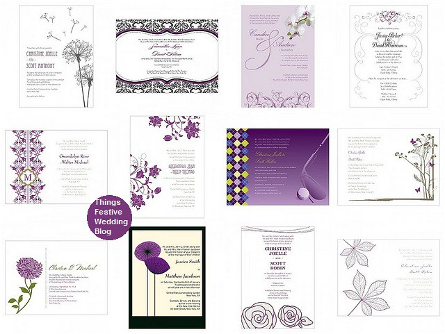 plum Wedding Invitations Visit us at ThingsFestivecom for stylish wedding