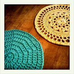 potholder in progress