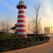 Lefrak point lighthouse Jersey City Newport