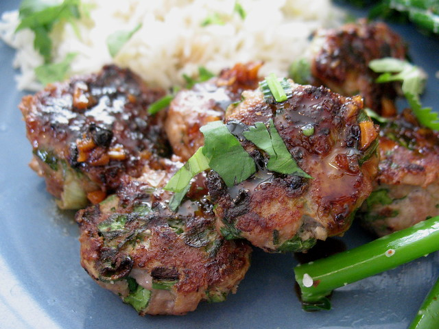 Turkey Meatballs with Balsamic Glaze, turkey meatballs